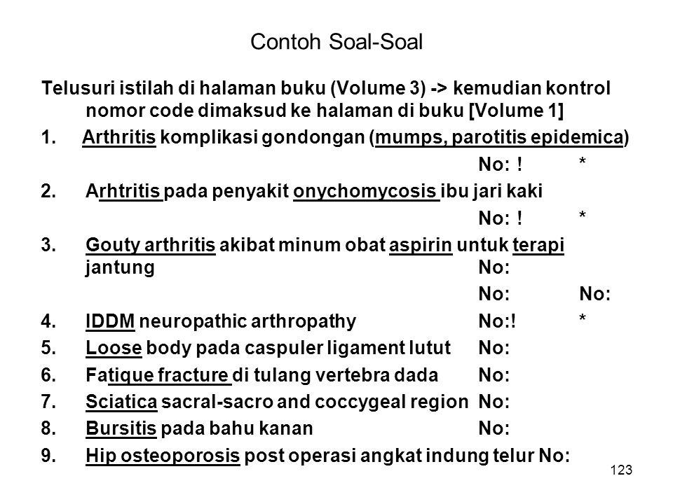 Contoh Soal-Soal Telusuri istilah di halaman buku (Volume 3) -> kemudian kontrol nomor code dimaksud ke halaman di buku [Volume 1]